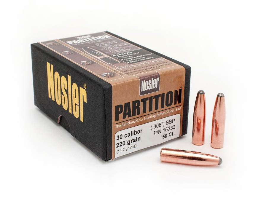 Partition 30 Caliber 220 Grain Bullets