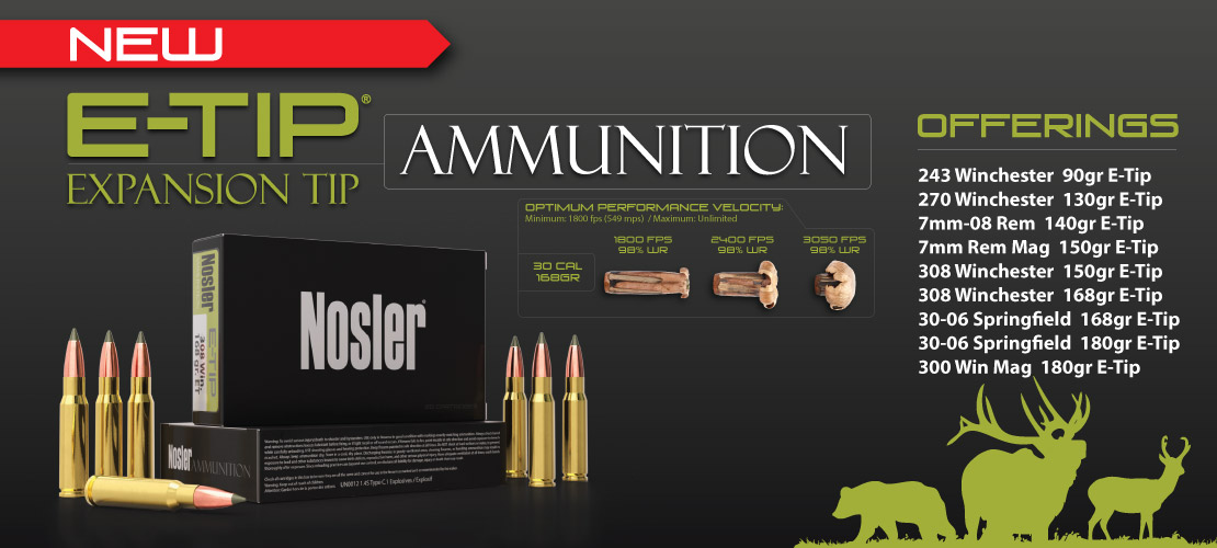 Nosler E-Tip Ammunition Banner