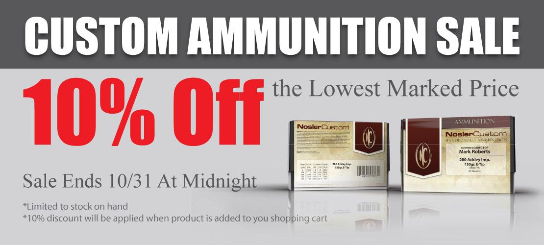 NoslerCustom Ammunition Sale Banner