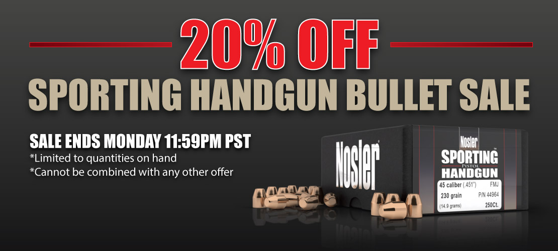 Sporting Handgun Bullet Sale Banner