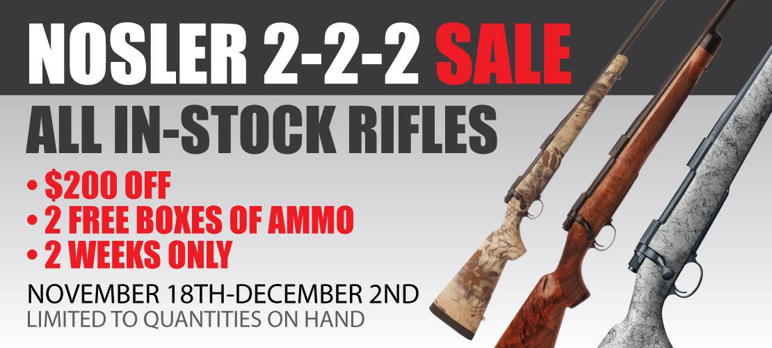 Custom Rifle Sale Banner