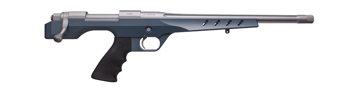 BBL/Action: Satin Mag H-147Q  Stock: Blue Titanium H-185
