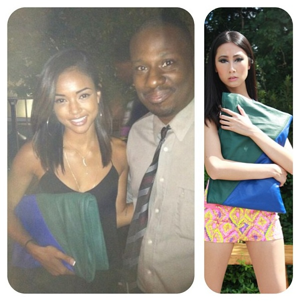Karrrueche Tran in one of our  Ij clutches . For the same look go  here .