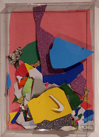 A collage shaker by an Art Brains student