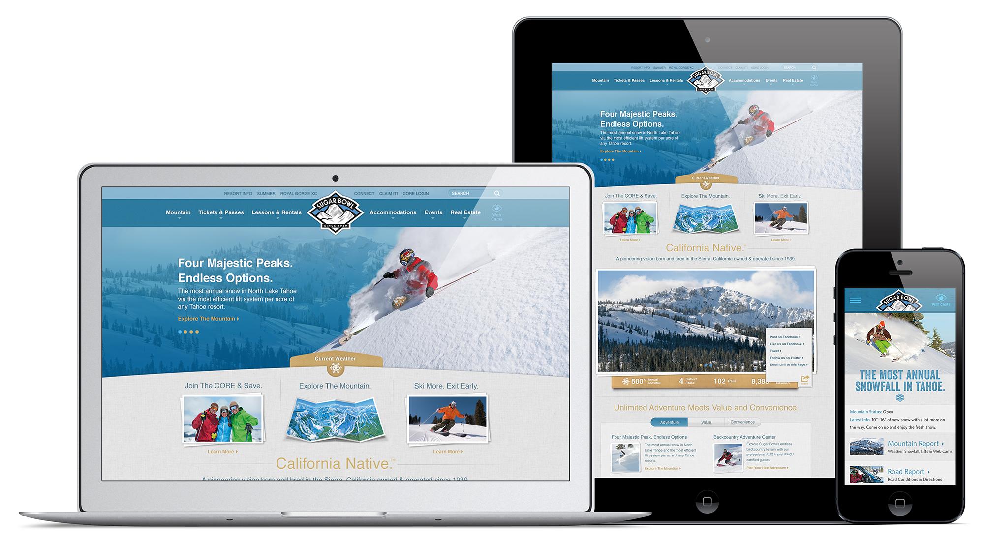 Sugar Bowl Brand design web design