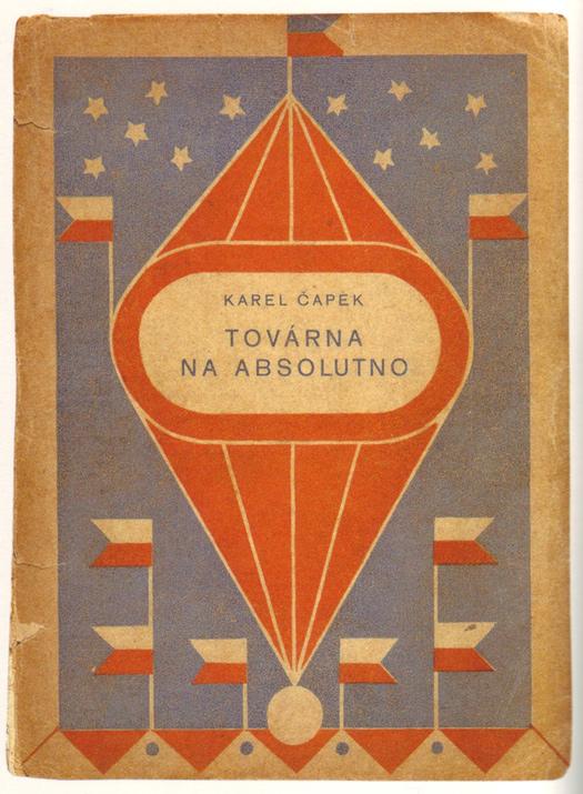 Josef Čapek, cover design for  The Absolute at Large  by Karel Čapek, 1922