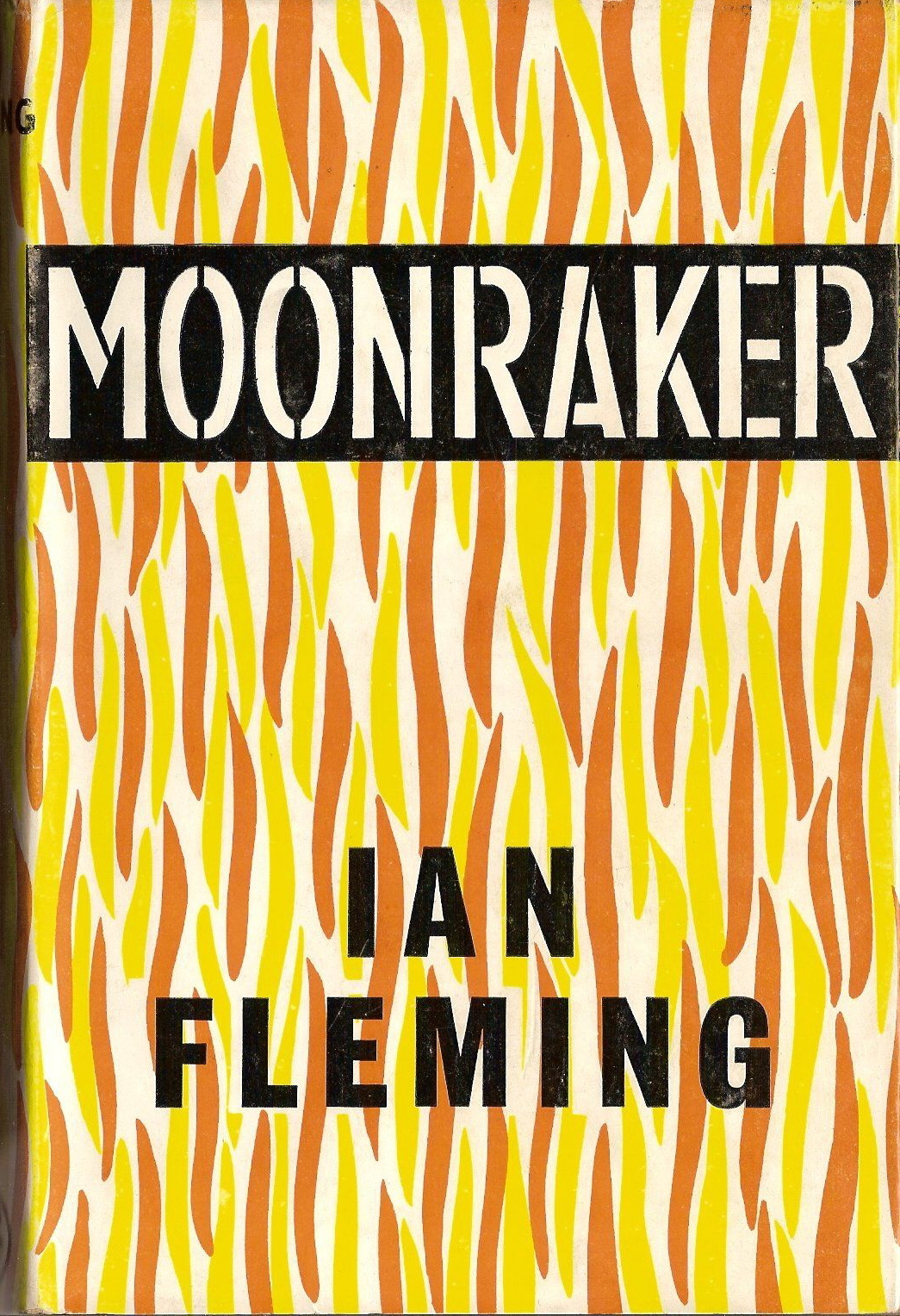 Moonraker by Ian Fleming. First Edition 1963  via.  Jacket designed by the author and executed by Kenneth Lewis.