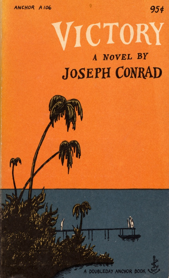 Victory by Joseph Conrad with a cover by Edward Gorey.  via Etsy
