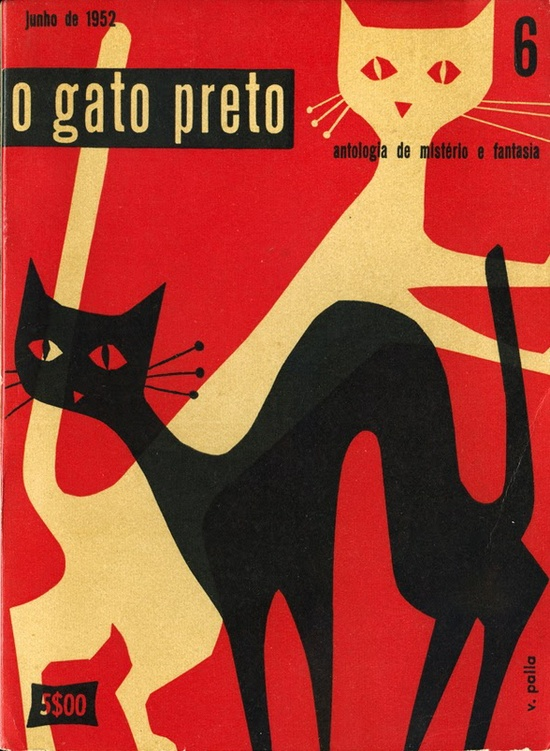 o gato preto cover by Victor Palla 1952  via