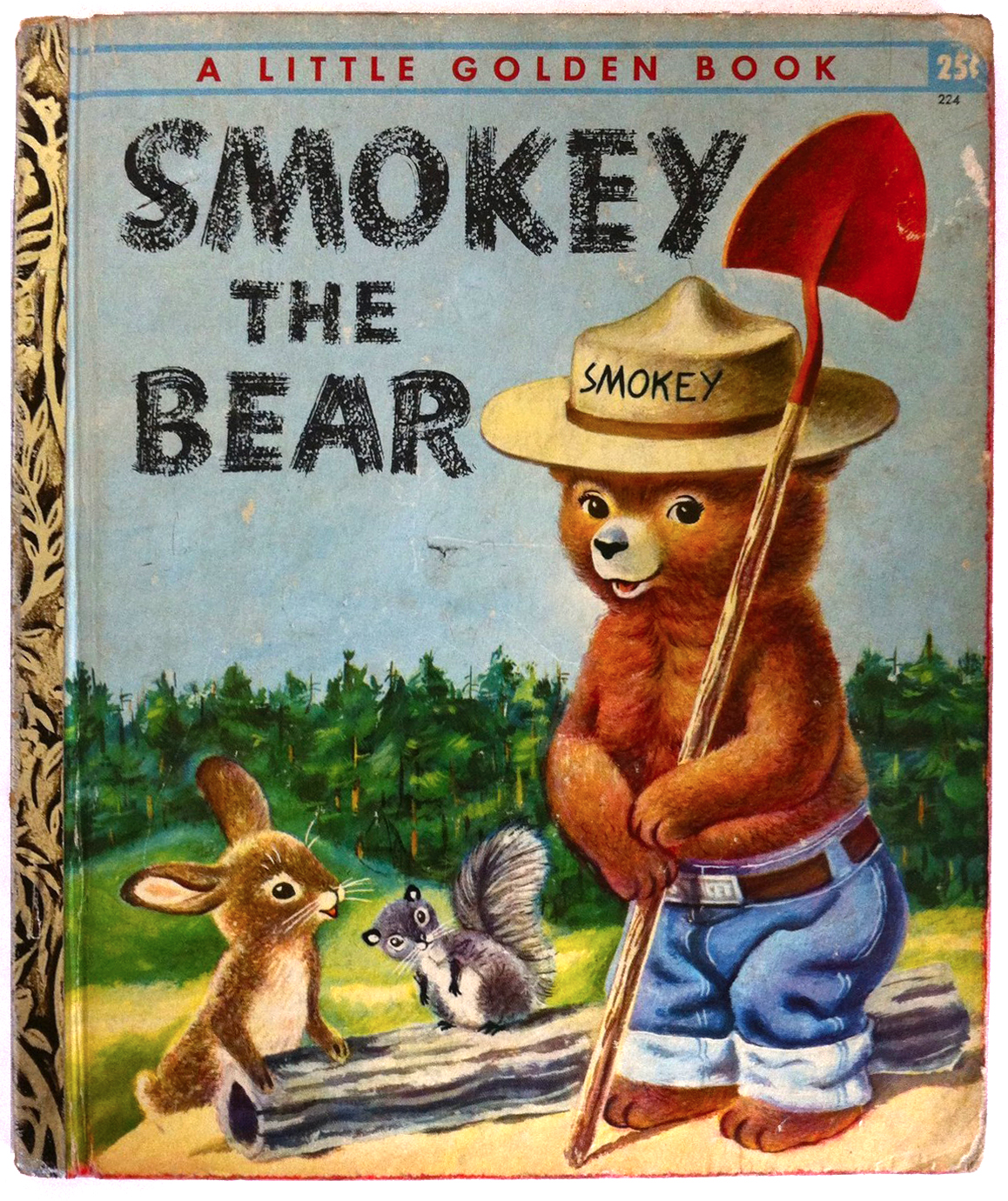 Smokey the Bear, 1955. Illustrated by Richard Scarry via  ebay