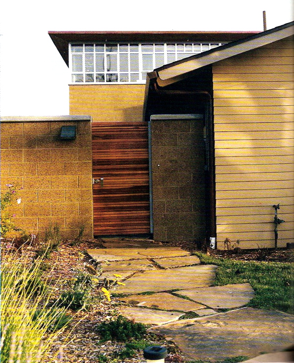I believe this is from Dwell Magazine in 2007 or earlier.  I ended up using this gate as inspiration when I built my back gate.