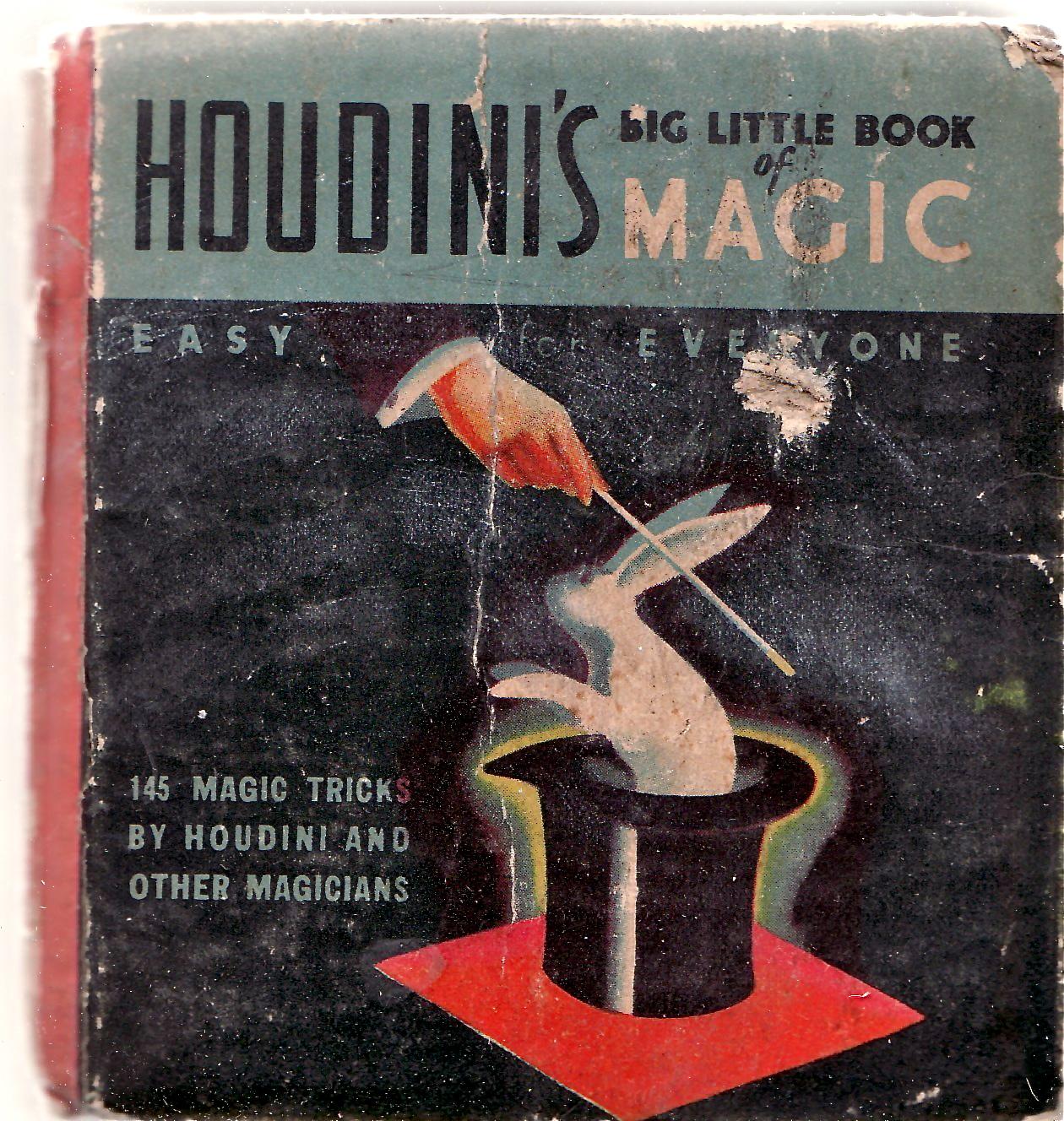 Houdini's Big Little Book of Magic 1933. Found on ebay.