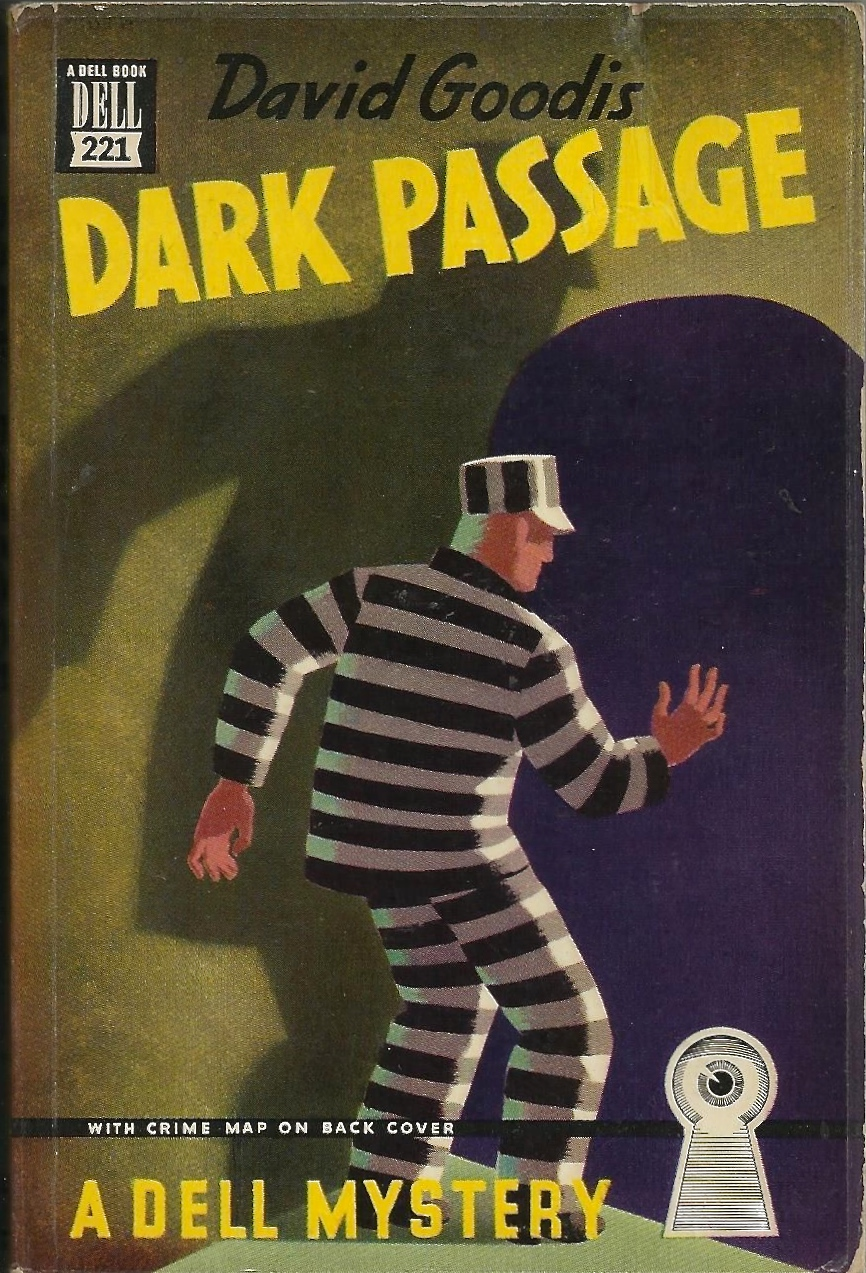 Dark Passage by David Goodis 1948, cover by Gerald Gregg. via  ebay