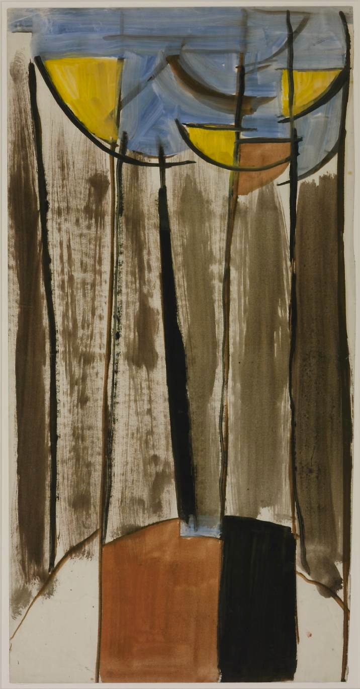 Untitled Composition circa 1955 Sir Terry Frost