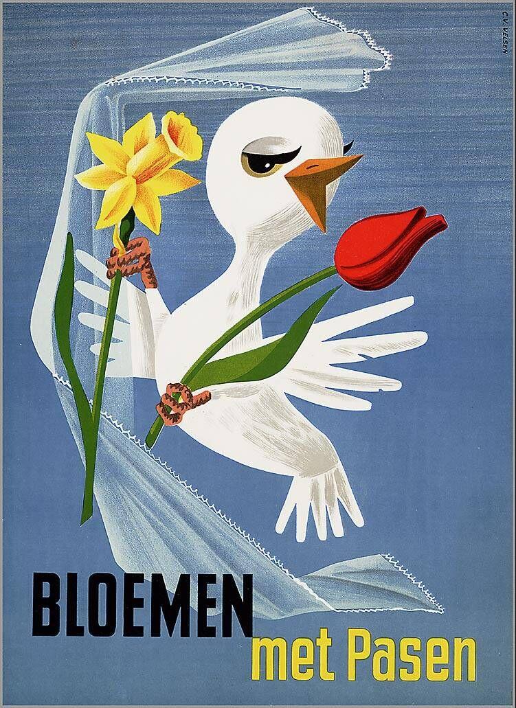 Bloemen met Pasen 1953