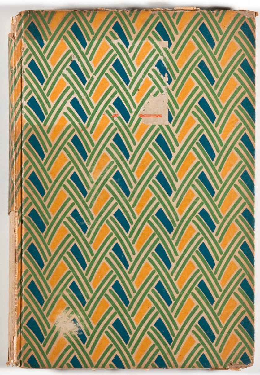 I'm not exactly sure what book this is, but it has lovely patterned and tattered boards.