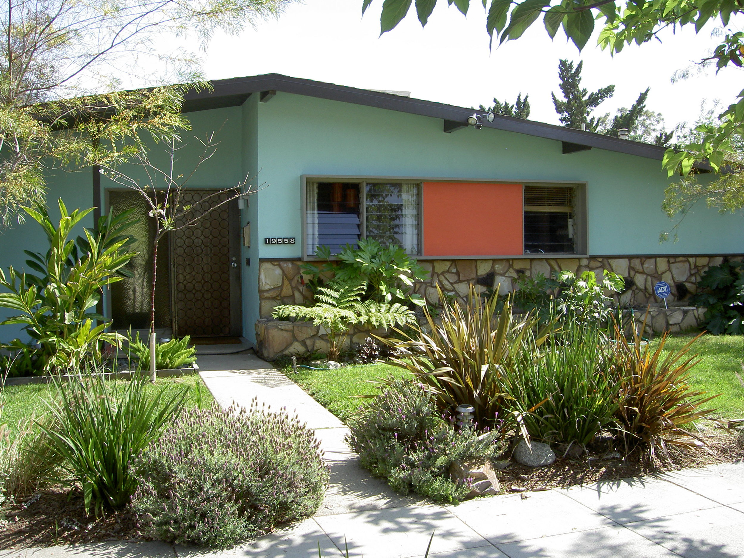 This is my modest little 1952 MCM house, designed by architect Ed Fickett.