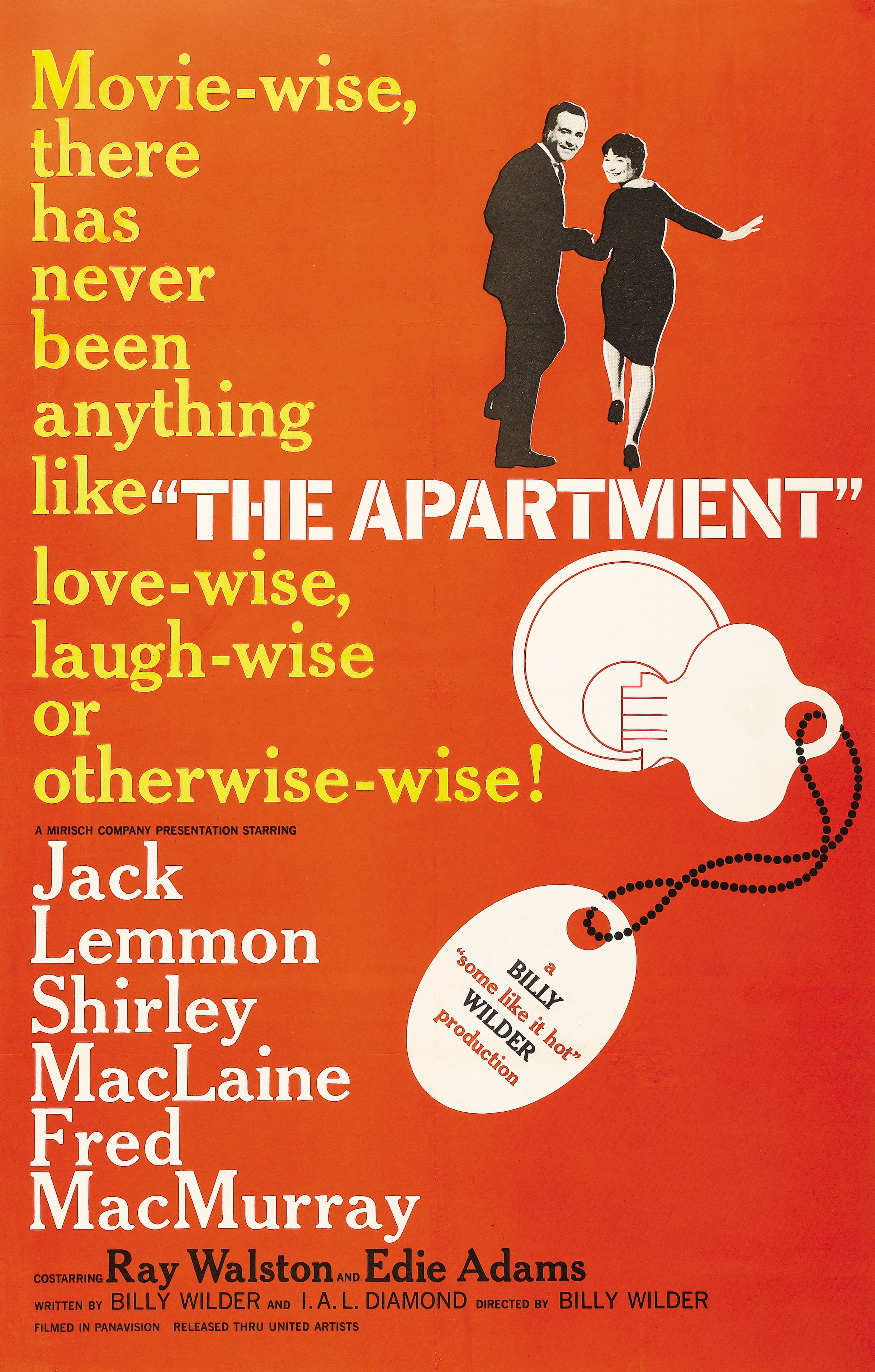 The Apartment (1960) with Jack Lemmon and Shirley MacLaine. This sardonic, sometimes dark but ultimately heart-warming film takes place over Christmas and New Year's. Wintery Manhattan in wide-screen black & white at the dawn of the 1960's.