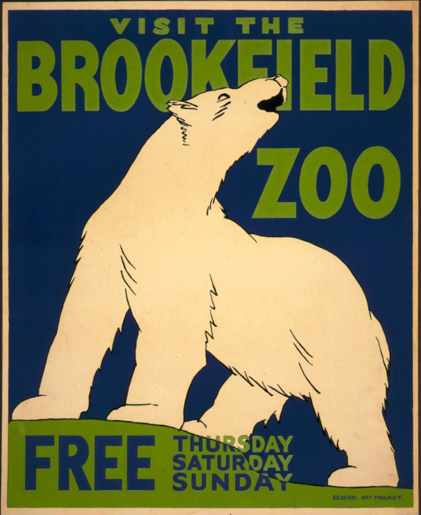 Brookfield Zoo WPA poster 1936