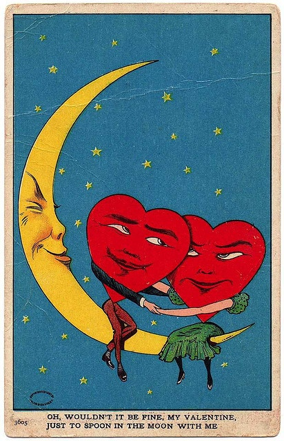 A vintage valentine card