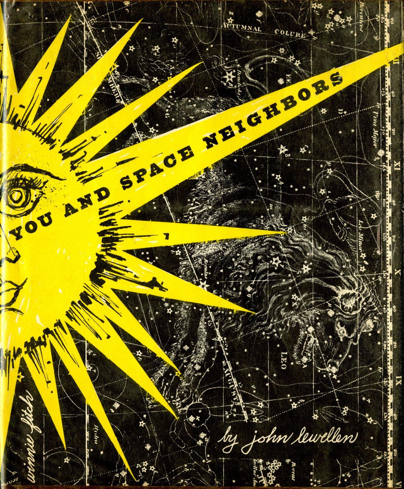 You and Space Neighbors by John Lewellen 1953 via letterology.com