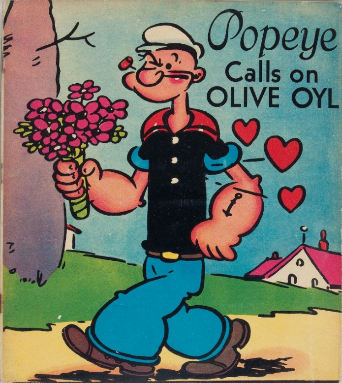 Popeye calls on Olive Oyl. Picture book 1937   via