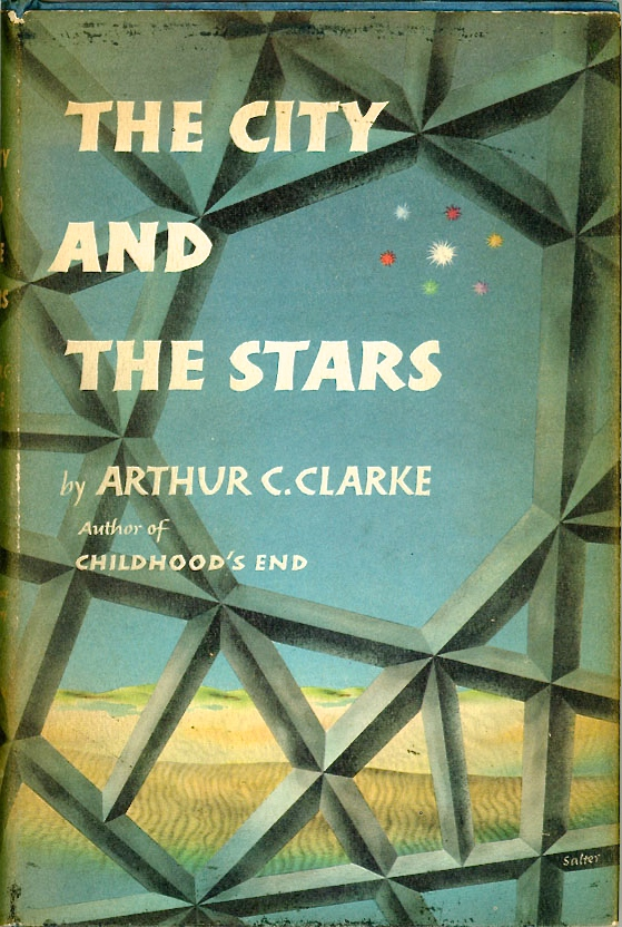 Clarke, Arthur C. THE CITY AND THE STARS. New York: Harcourt, Brace and Company, [1956]. Cover design by George Salter.