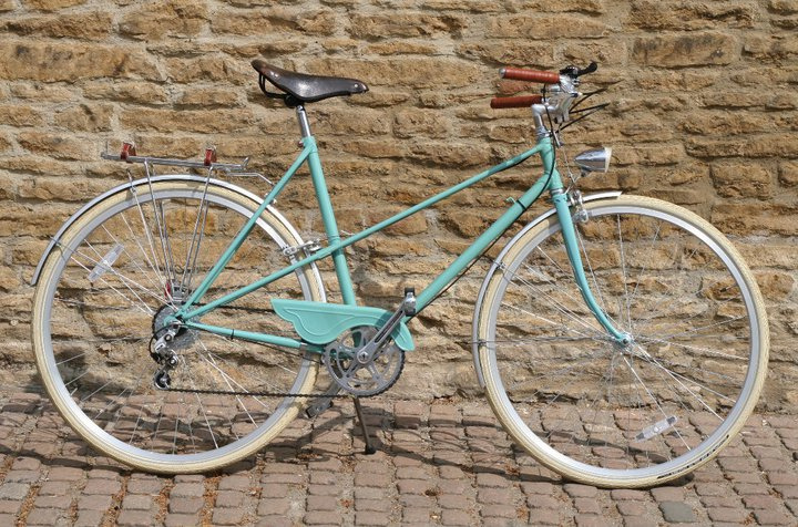 """My new/old Raleigh mixte. It was a custom build based on a few bikes I had seen (and swooned over). Ace to ride, and really fast and light. Best thing I own. :) ""   —LaurenRoseUK on flicker"