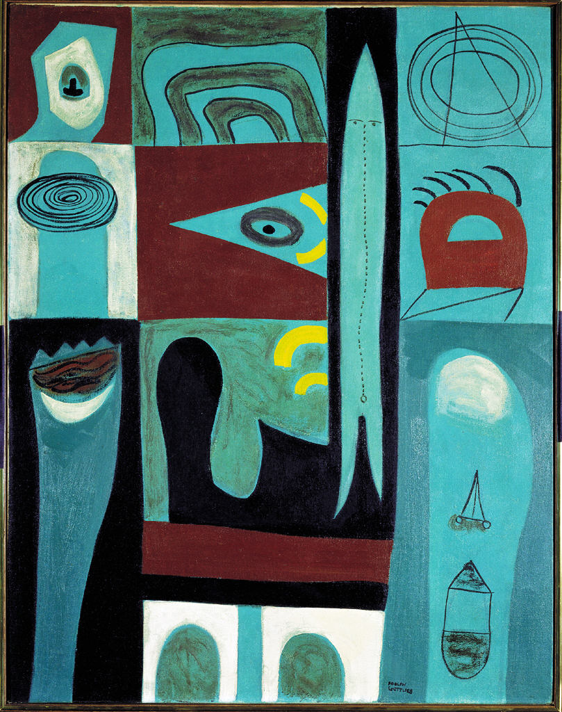 Adolph Gottlieb: Night Voyage, 1946 - Oil on canvas (Gift of Joseph H. Hirshhorn, 1966 Art © Adolph and Esther Gottlieb Foundation