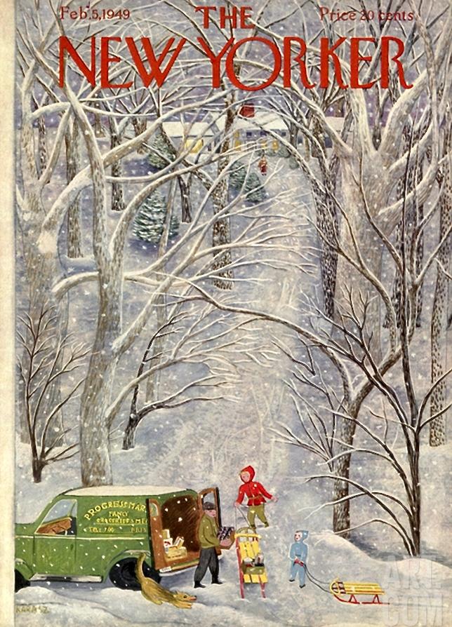 The New Yorker Feb 5, 1949 | Ilonka Karasz via art.com