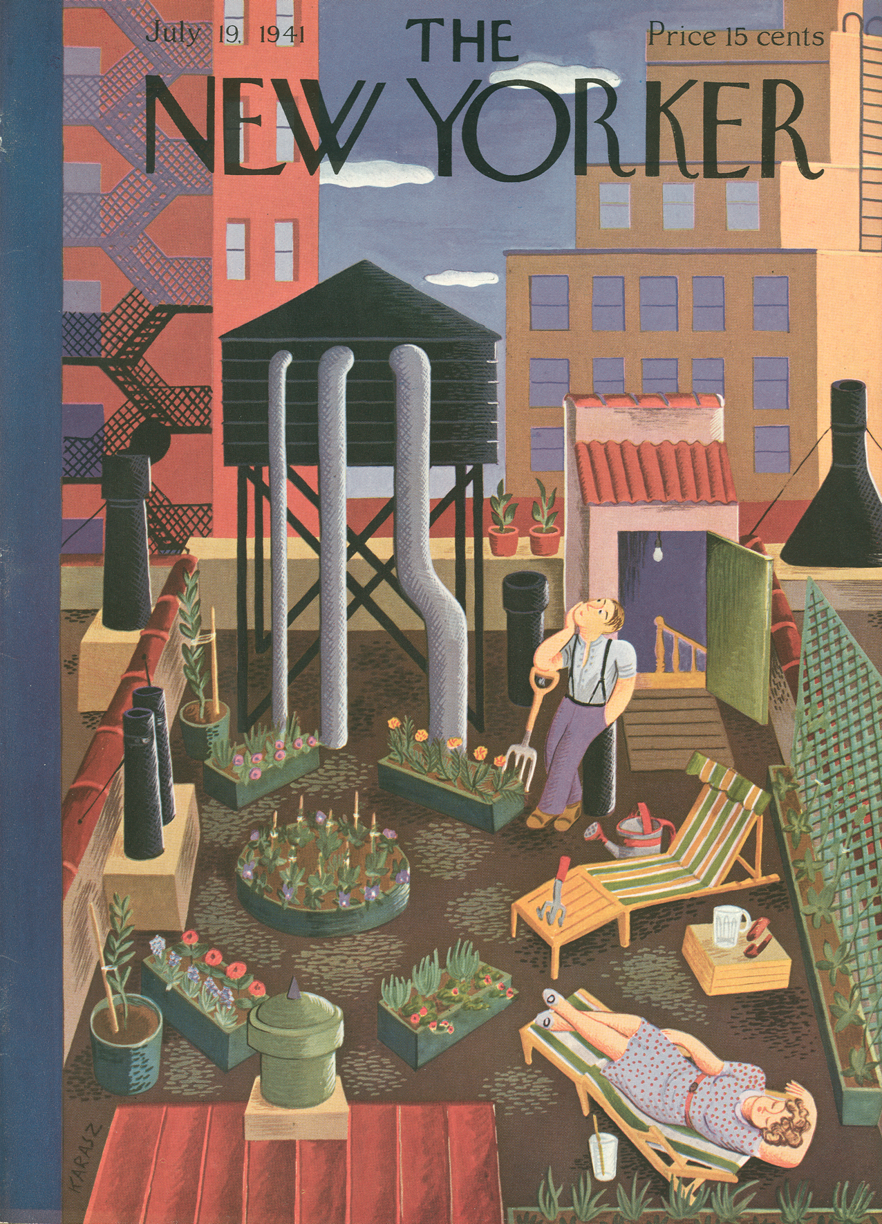 The New Yorker July 19, 1949 | Ilonka Karasz via  THE NEW YORKER