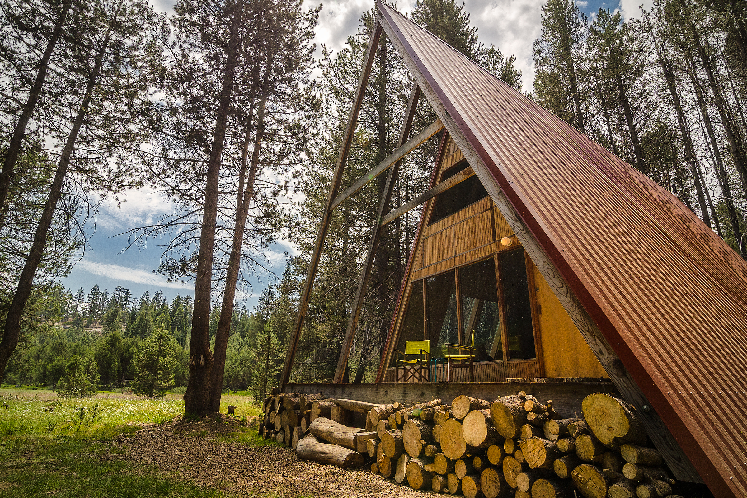 The Red A-Frame. Photos by Wassim Muklashy. Read about his photo trip  here