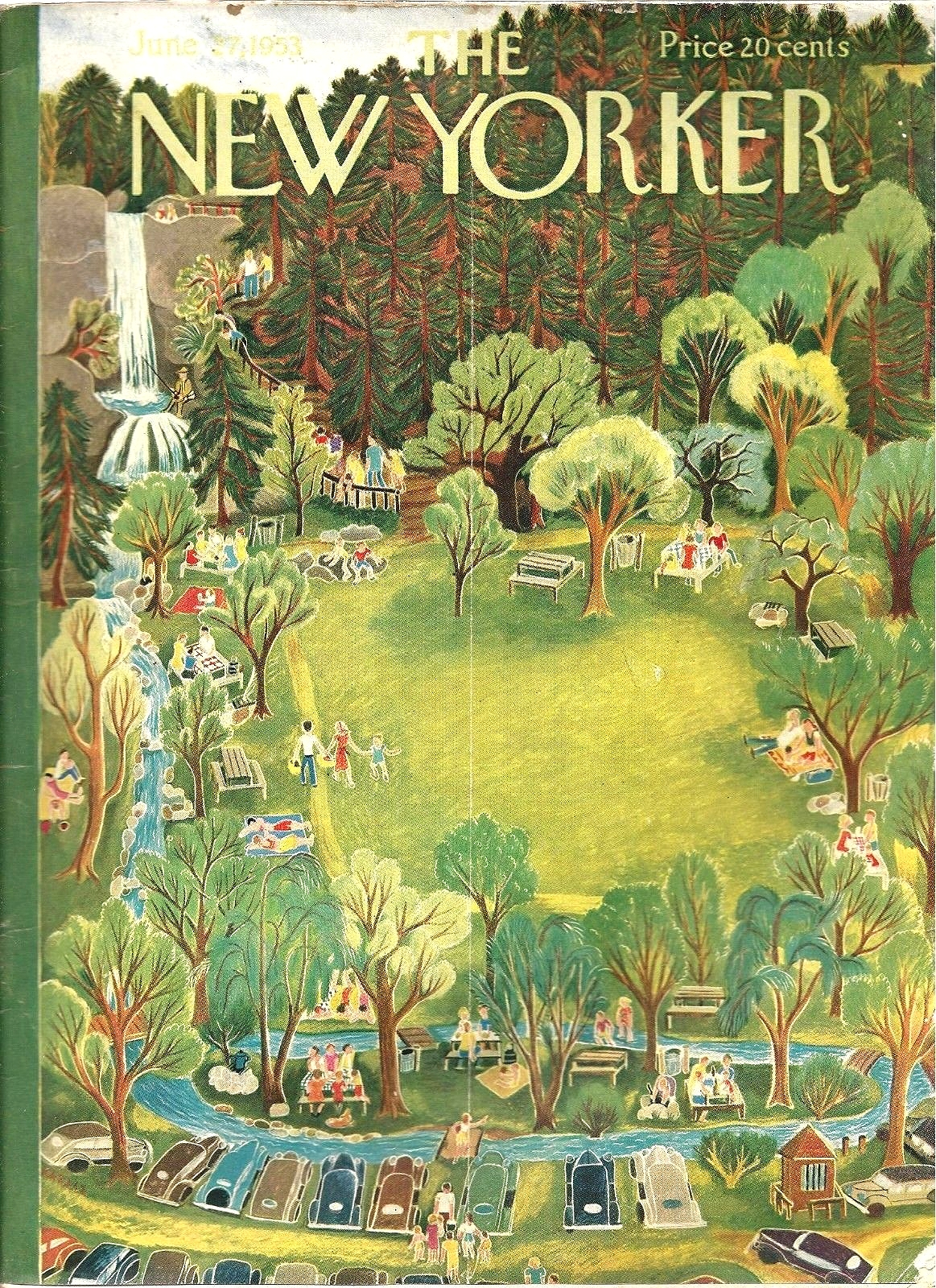 The New Yorker June 1953 | Ilonka Karasz via  THE JUMPING FROG
