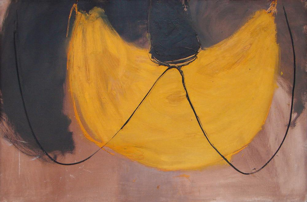Douglas Swan | Yellow Net 1961 Oil on canvas via  Saunders Fine Art