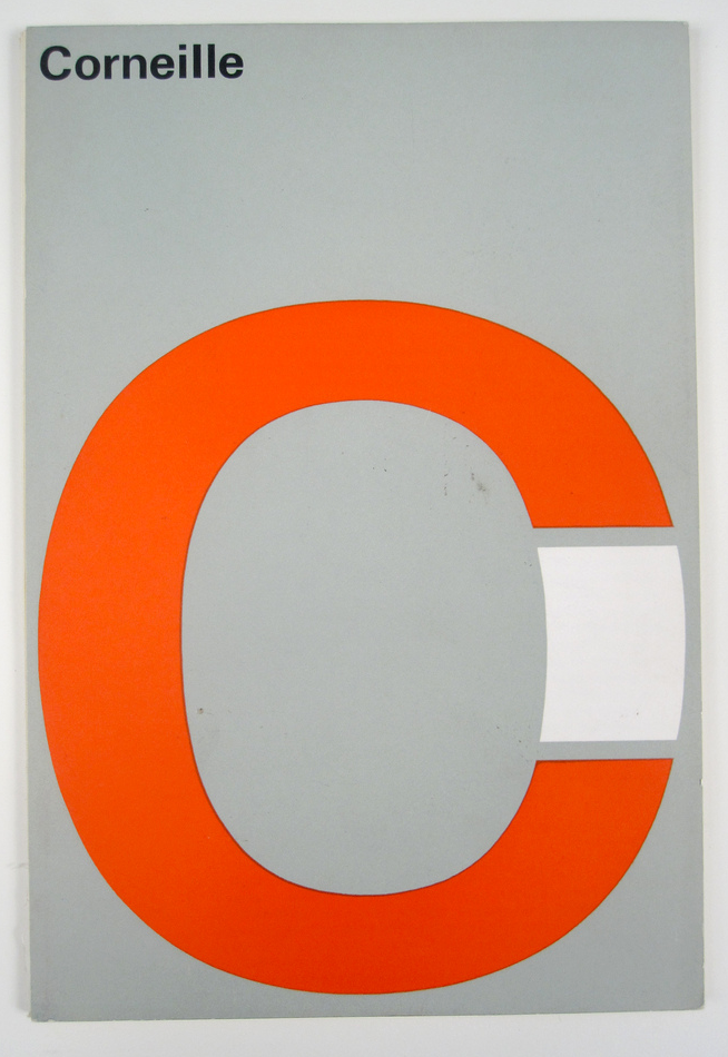 """Cover of the """"Corneille-landmeter"""" exhibition catalog from the Stedelijk Museum, designed by Wim Crouwel, Total Design, 1966"""