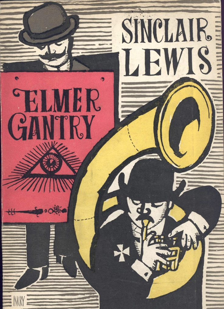 """Elmer Gantry"" Sinclair Lewis Cover by Maciej Hibner Published by Wydawnictwo Iskry 1959"