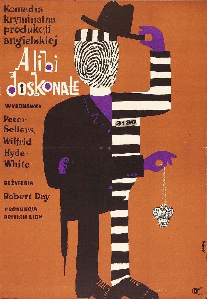 Maciej Hibner | Alibi Doskonale (Two Way Stretch) 1963. British (British Lion), 1960. Director: Robert Day. Starring Peter Sellers, Wilfrid Hyde-White.