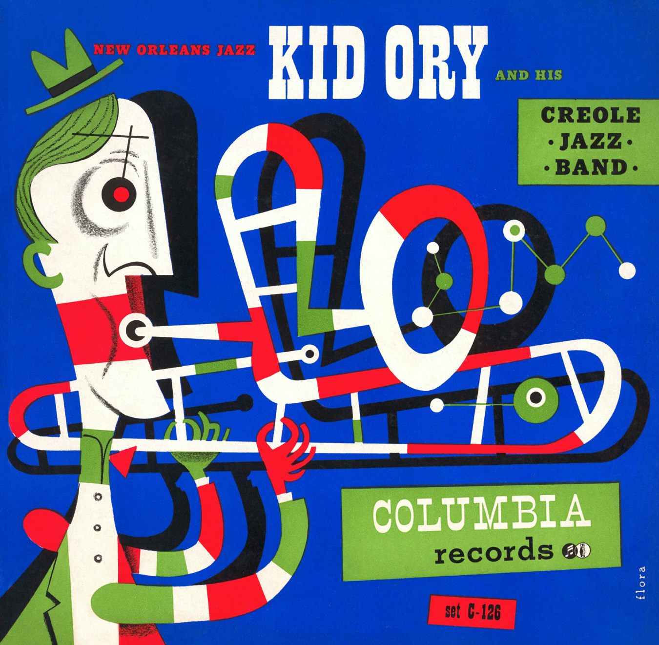 1947 Kid Ory and His Creole Jazz Band 78 album cover
