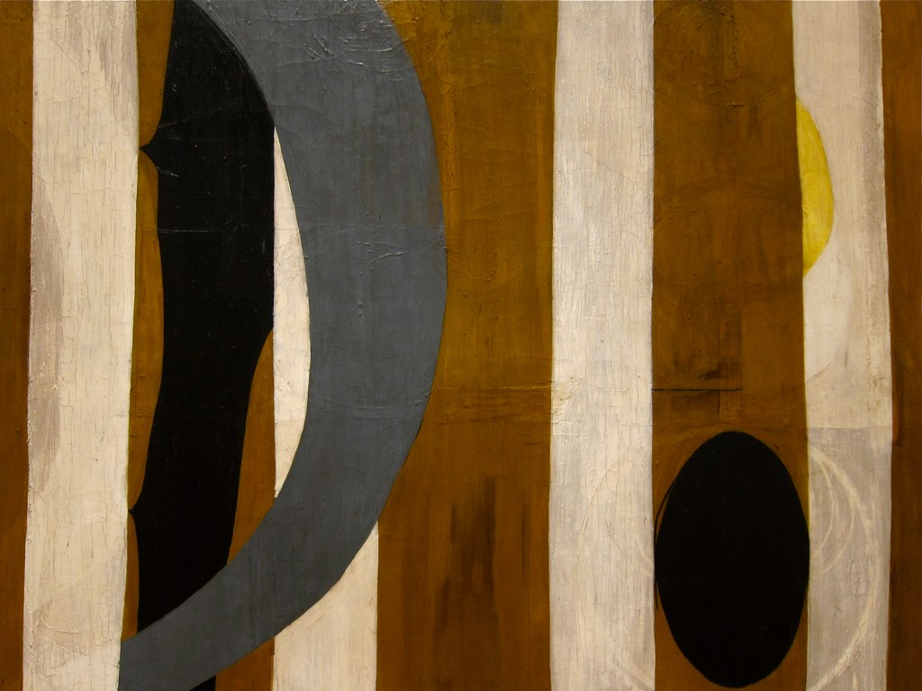 Wall painting with stripes  1944 -1945, by Robert Motherwell