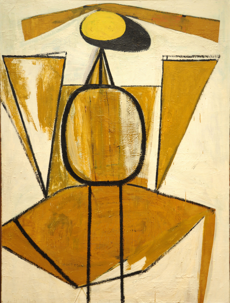 Robert Motherwell. Personage, with Yellow Ochre and White. 1947. MoMA, NY via  flickr