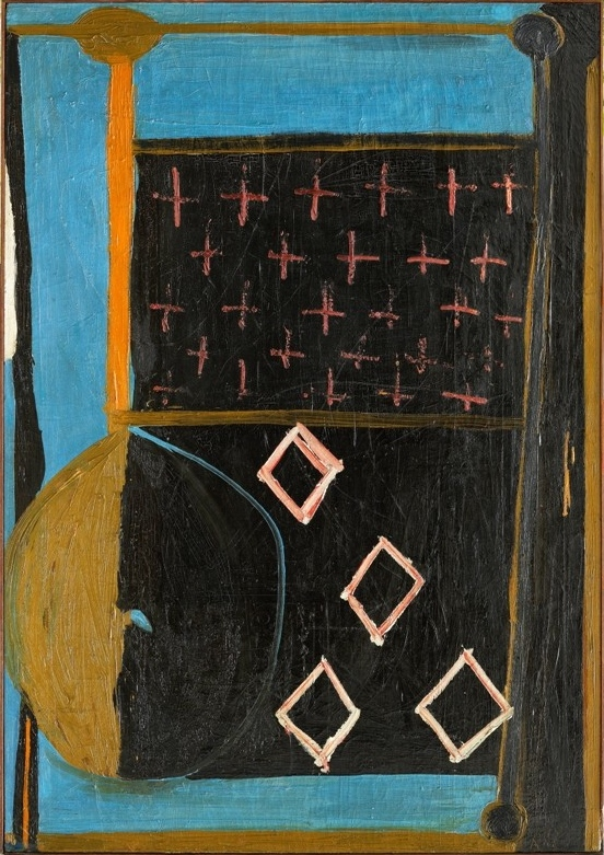 Blue with Crosses, 1947 ROBERT MOTHERWELL via  opera gallery.com