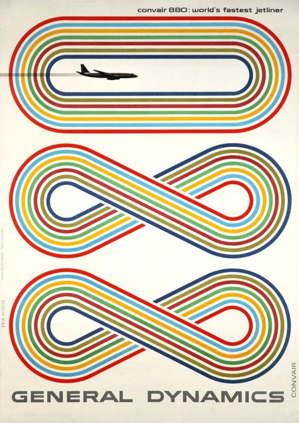 Poster for General Dynamics, Convair 880: world's fastest jetliner, 1959 via  galerie123.com