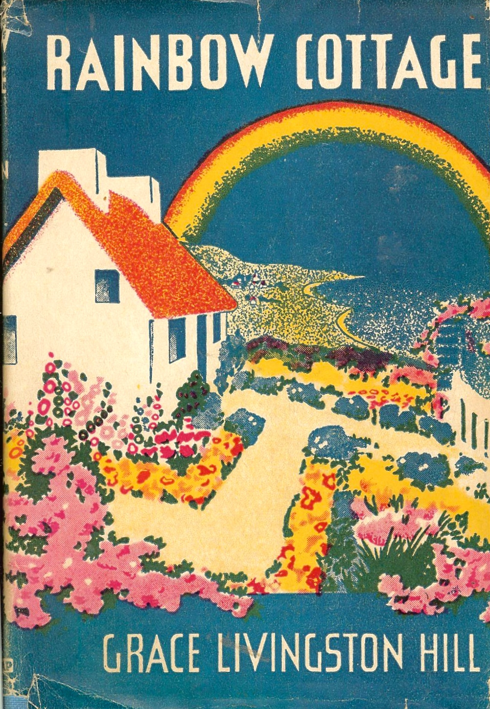 Vintage Grace Llivingston Hill book Rainbow Cottage. Book has its original dust jacket. Book was published in 1934. Available right  here  for $8.
