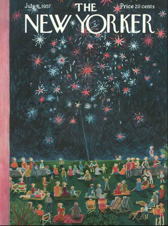 Cover by one my idols, Ilonka Karasz, The New Yorker July 6 1957