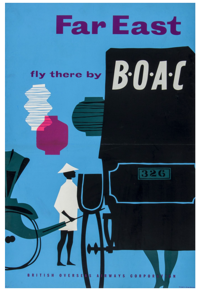 FAR EAST, fly there by BOAC