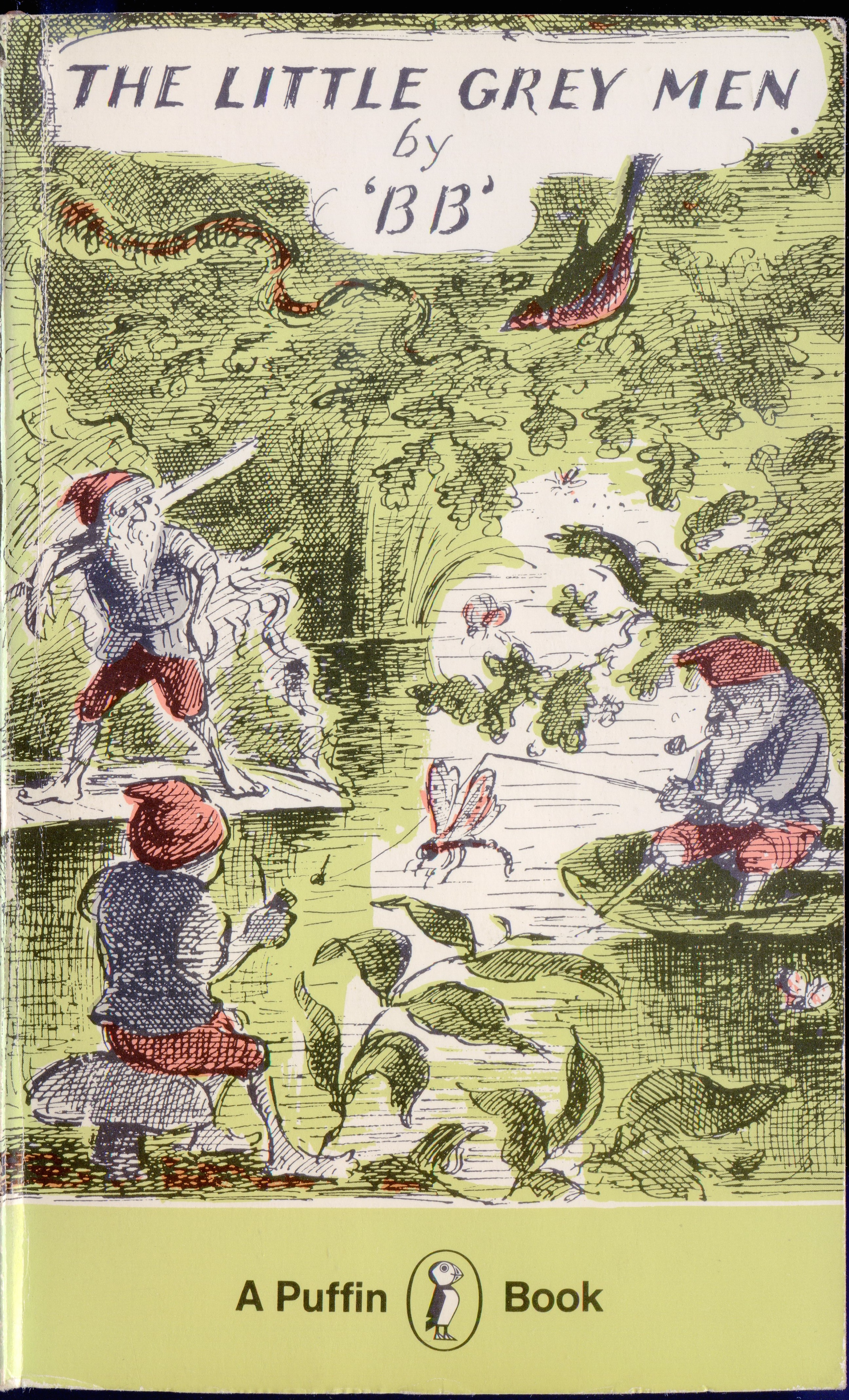 """The Little Grey Men  by """"BB"""" (Denys Watkins-Pitchford).  First published by Eyre & Spottiswood, 1942. Puffin edition 1962, this reprint 1975 (ii). Cover illustration by Edward Ardizzone.   via"""