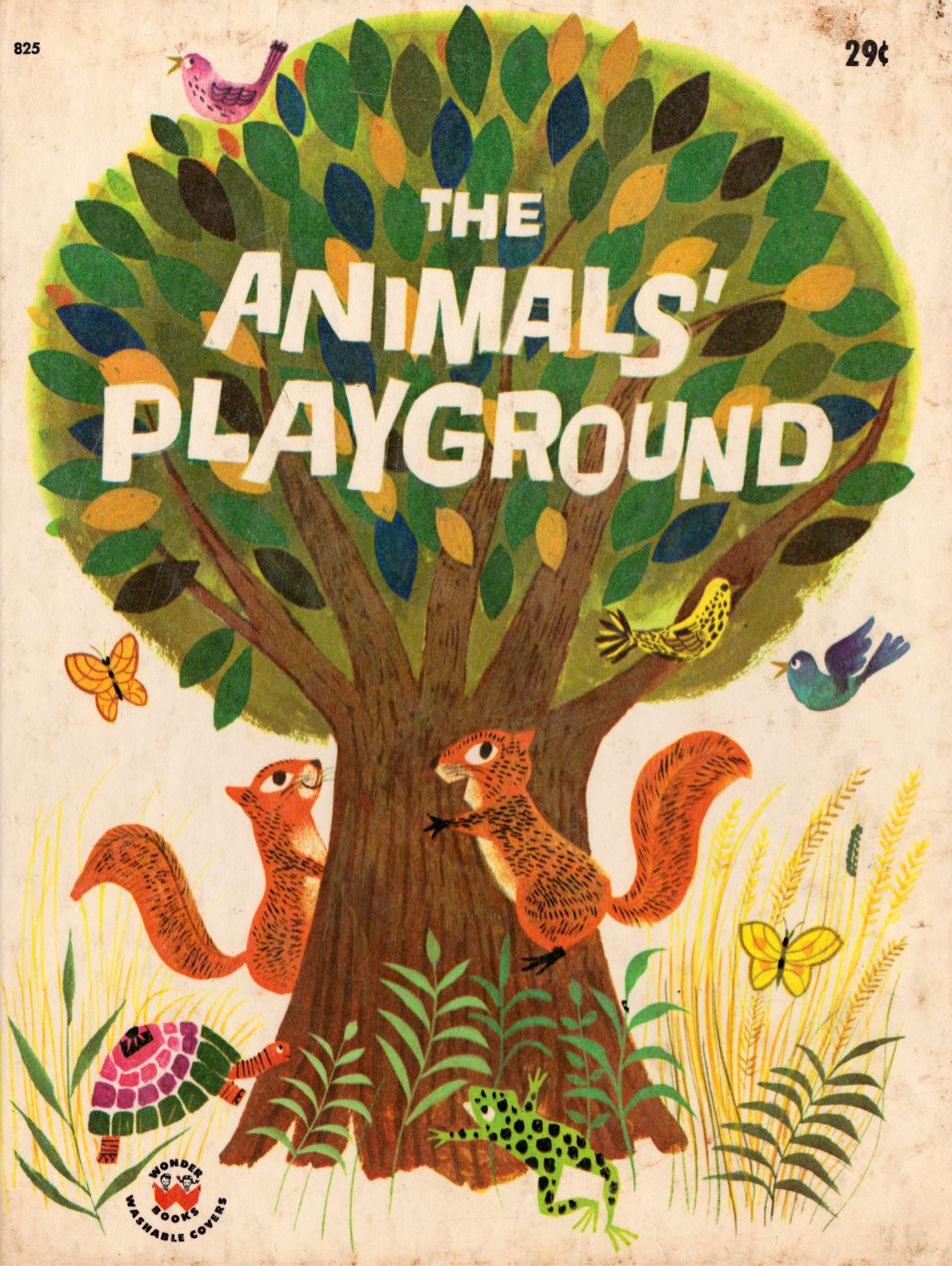 The Animal's Playgroundwritten by Virginia Stone Marshall, illustrated by Art Seiden (1964).  via