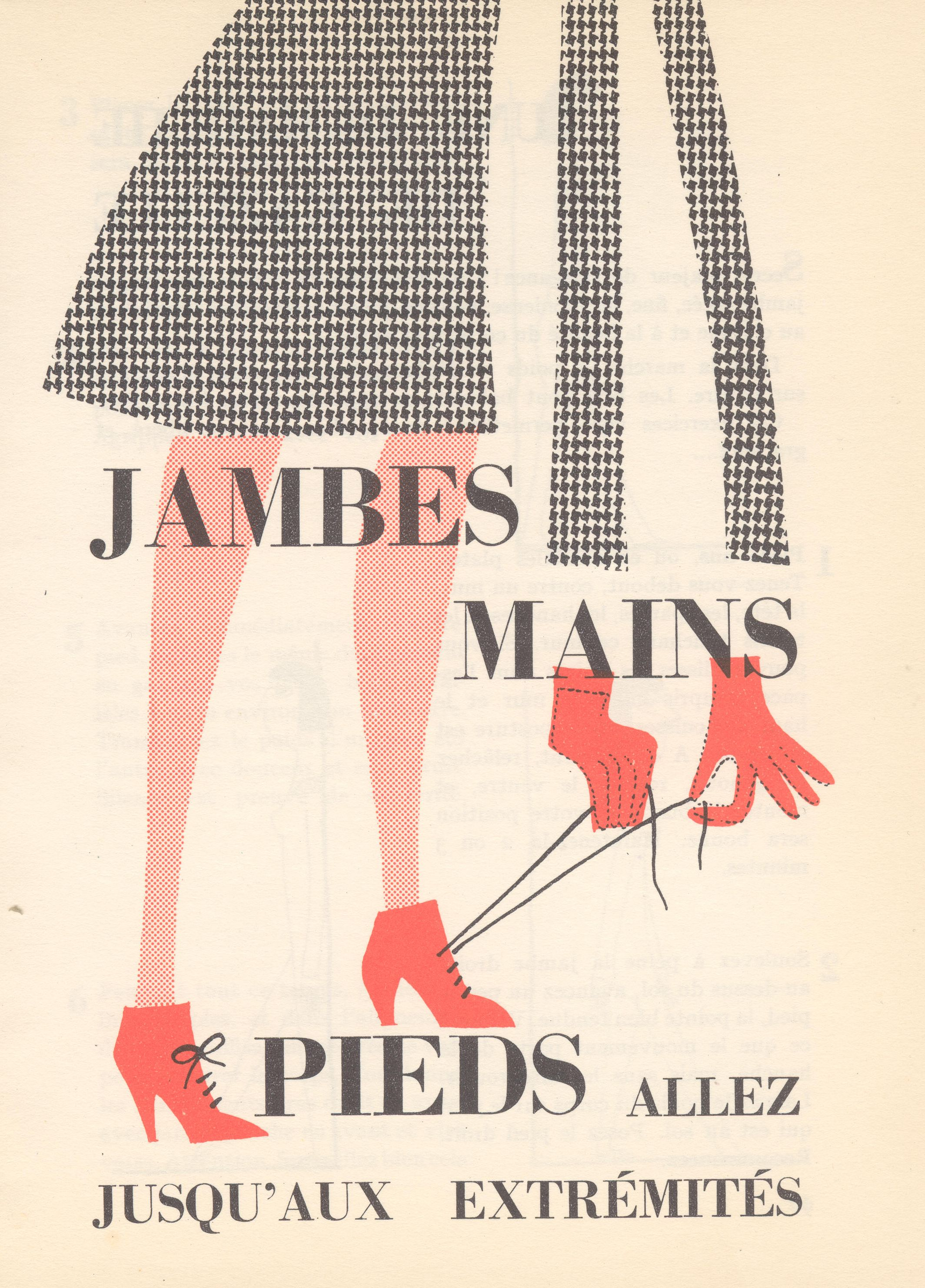 """Illustrations de Jacqueline Chaumont pour """"Toujours belle de la tête aux pieds"""" (1959)"""