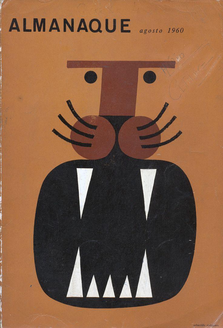 Almanaque Agosto 1960 | Capa de Sebastião Rodrigues via