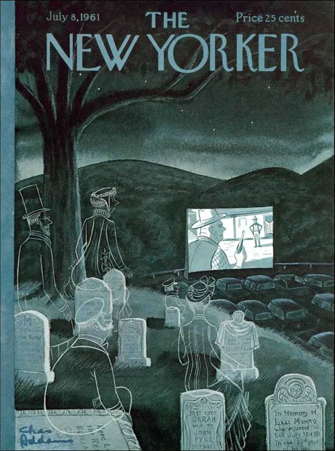 Charles Addams New Yorker, July 8, 1961.